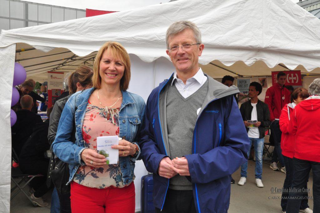 BU bydelsdirektør, Marie Anbjørg Joten og leder for BU, Carl Oscar Pedersen.