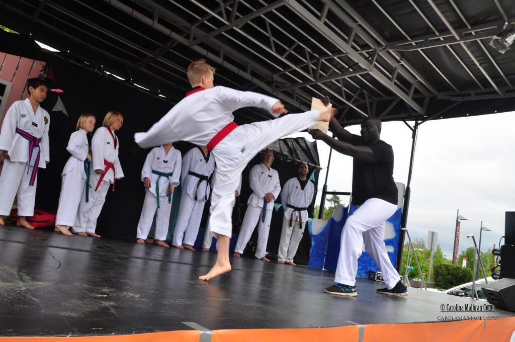 Tojang Taekwondo klubb imponerte med kampteknikker.