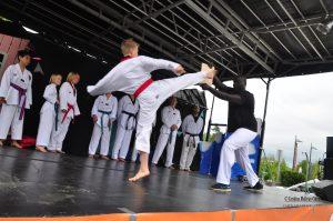 Tojang Taekwondo imponerte med kampvisning.